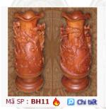 Các sản phẩm bình hoa gỗ của Công ty TNHH MTV Thanh Hiền