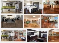 Để không gian phòng ăn biệt thự thêm đẹp và ấm cúng nên chọn sàn gỗ công nghiệp như thế nào?