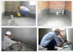 Cách chống thấm phòng vệ sinh nhà ống bằng cách sử dụng hóa chất.