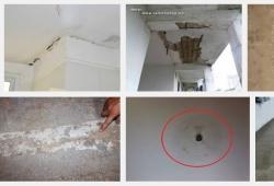 Cách chống thấm trần nhà bê tông cho phòng khách căn hộ