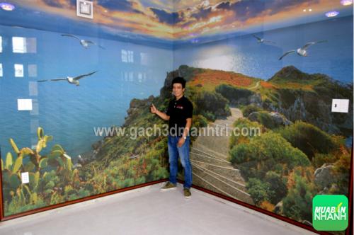 Khách hàng chọn mua gạch 3D ốp tường hoàn toàn chủ động chọn mẫu hình và kích thước bộ gạch